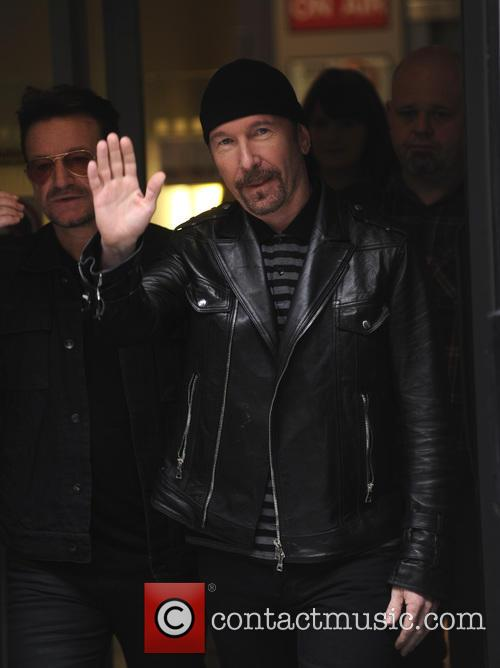 Bono and The Edge from U2 at the...