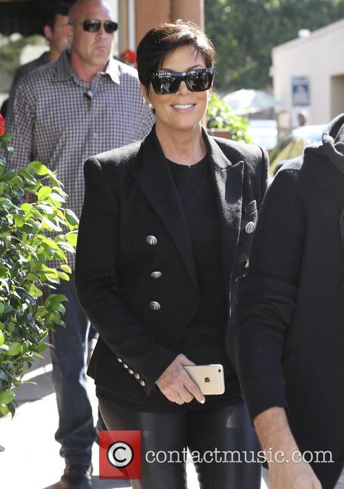 Kris Jenner and Scott Disick leave a restaurant
