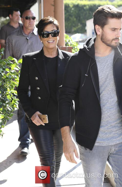 Kris Jenner and Scott Disick leave a restaurant