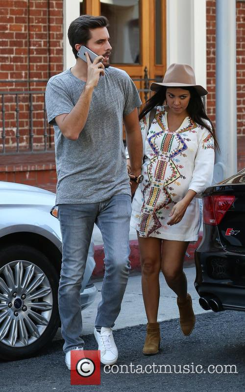 Scott Disick and Kourtney Kardashian leaving a medical...