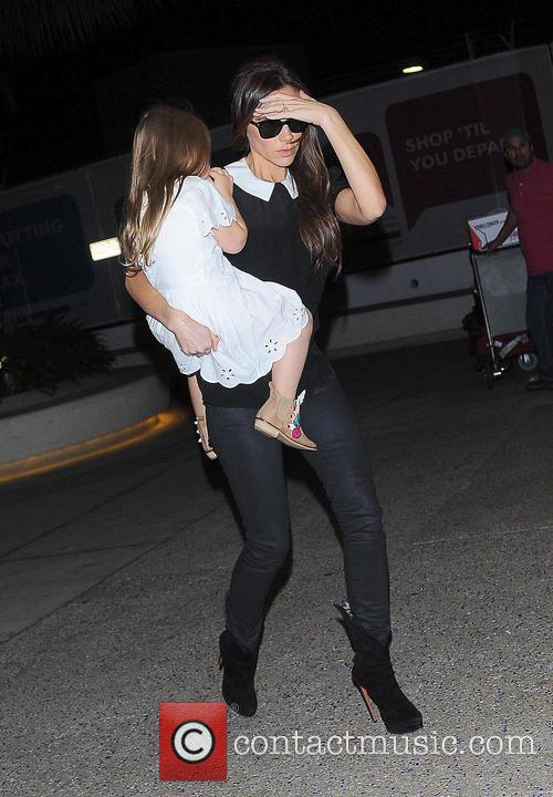 Victoria Beckham arriving at Los Angeles International Airport...