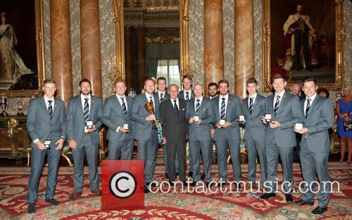 Prince Philip, Duke Of Edinburgh and Yorkshire County Cricket Team 4