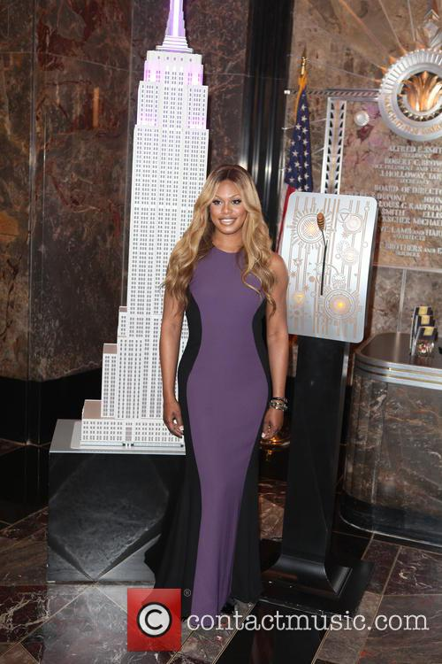 Laverne Cox illuminates The Empire State Building