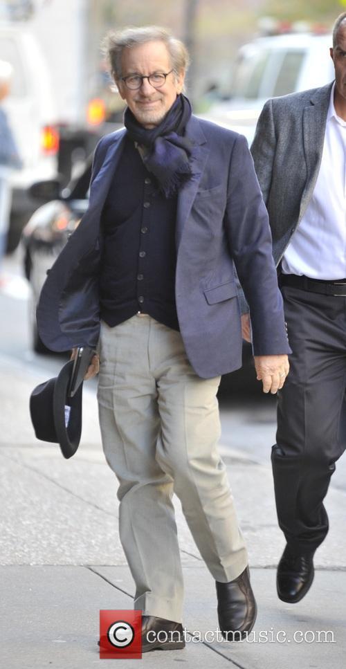 Steven Spielberg out in Soho