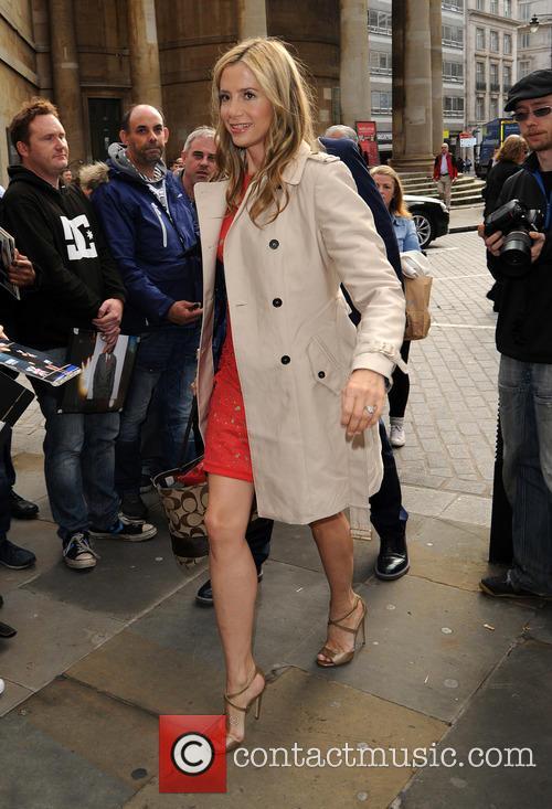 Mira Sorvino arrives at the BBC