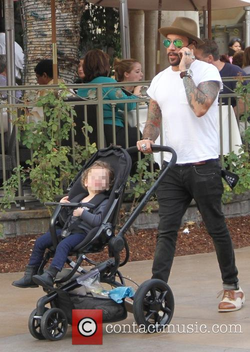 A.J. McLean takes his daughter Ava shopping at...