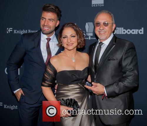 Jencarlos Canela, Gloria Estefan and Emilio Estefan