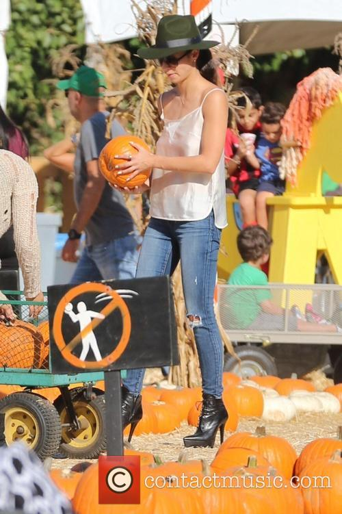 Cara Santana visits Mr. Bones Pumpkin Patch