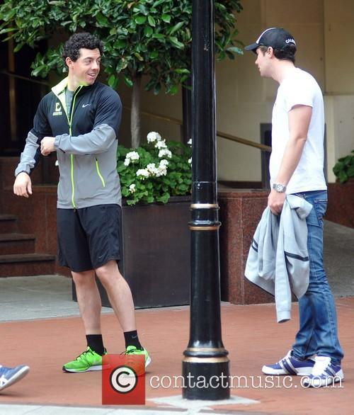 Rory McIlroy visits the Westbury Hotel