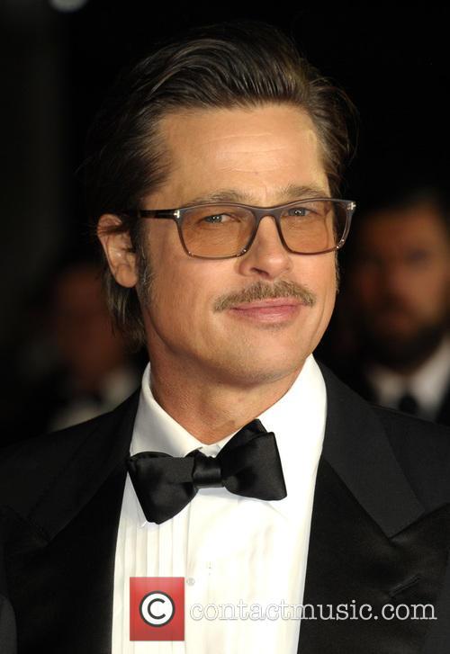 Brad Pitt at 'Fury' premiere