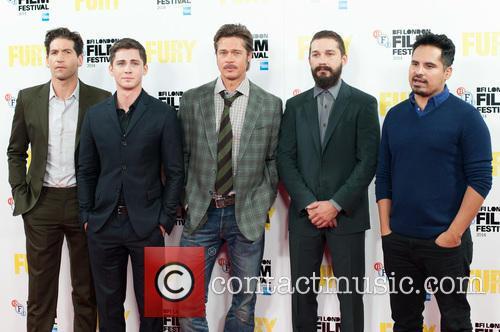 Logan Lerman, Brad Pitt, Michael Pena, Shia Labeouf and Jon Bernthal 5