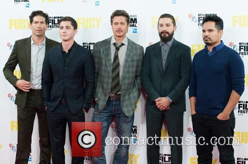 Logan Lerman, Brad Pitt, Michael Pena, Shia Labeouf and Jon Bernthal 6
