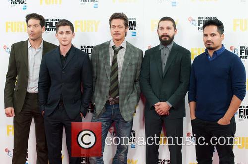 Logan Lerman, Brad Pitt, Michael Pena, Shia Labeouf and Jon Bernthal 7