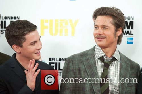 Brad Pitt and Logan Lerman 7