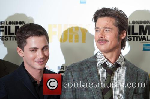 Brad Pitt and Logan Lerman 8