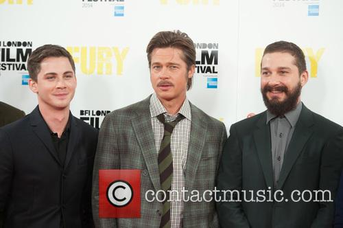 Brad Pitt, Logan Lerman and Shia Labeouf