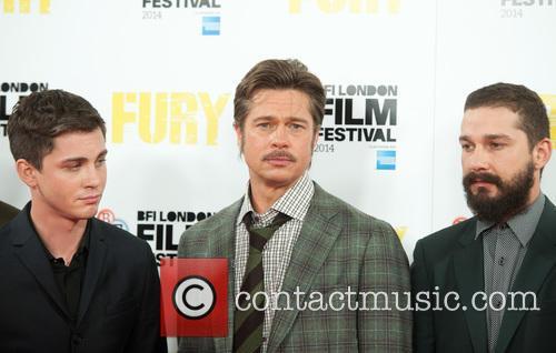 Brad Pitt, Logan Lerman and Shia Labeouf 11