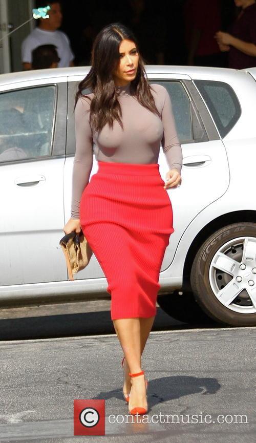 Kim Kardashian has lunch at Fred Segal
