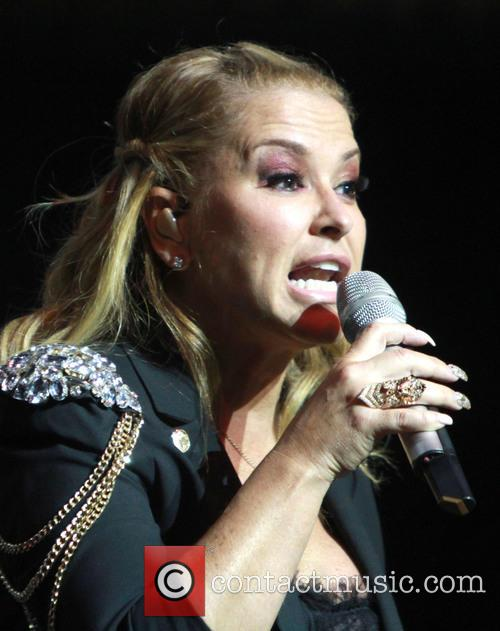 Anastacia performing live in concert