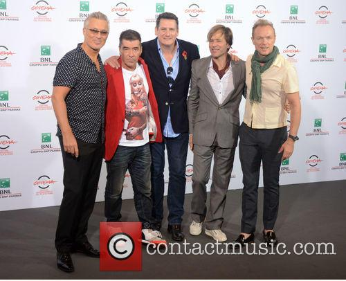 Spandau Ballet during a photocall in Rome
