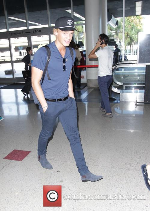 Cody Simpson departs Los Angeles International Airport
