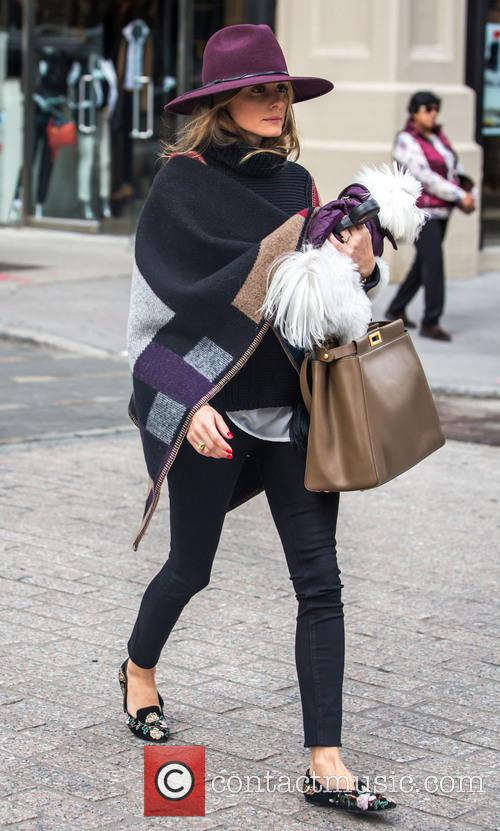 Olivia Palermo running errands in Brooklyn with her...