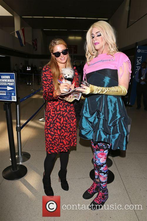 Paris Hilton at Los Angeles International Airport (LAX)
