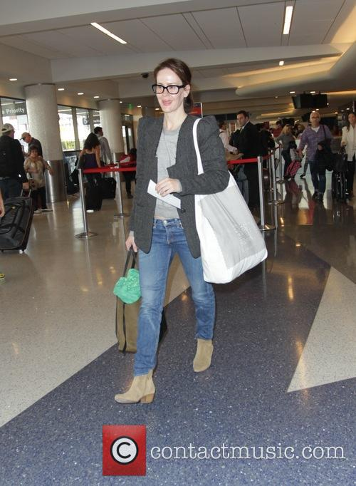 Sarah Paulson departs Los Angeles International Airport