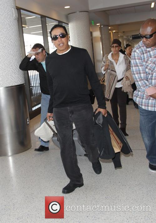 Smokey Robinson departs Los Angeles International Airport