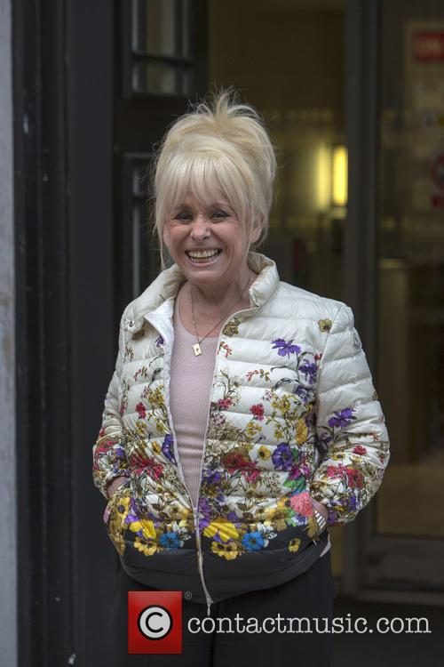 Barbara Windsor arriving at BBC Radio 2 studios