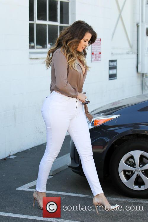 Khloe Kardashian leaving a studio
