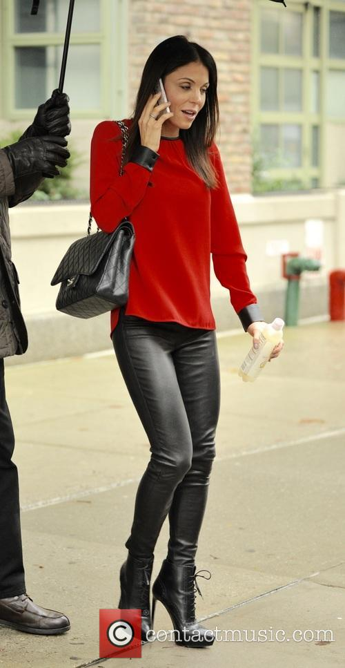 Bethenny Frankel out and about on a rainy...