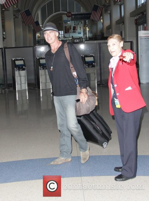 Jeff Fahey departs Los Angeles International Airport