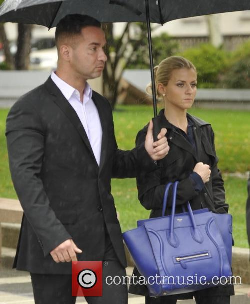 Michael 'The Situation' Sorrentino arrives at Newark's federal...