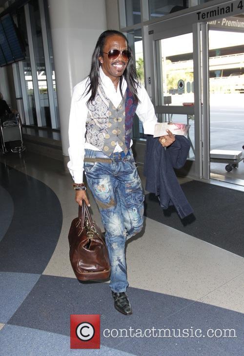 Verdine White departs Los Angeles International Airport
