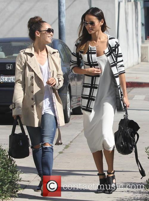 Jamie Chung and Cara Santana out and about...