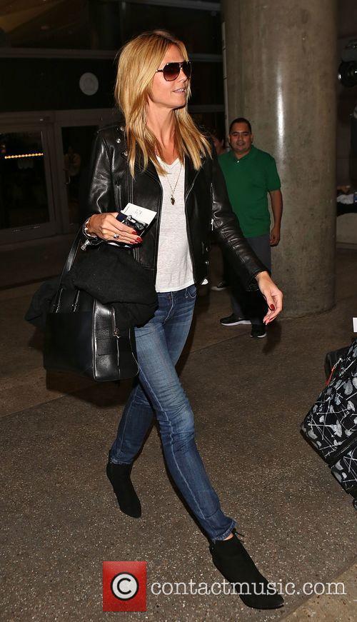 Heidi Klum arrives at Los Angeles International Airport...