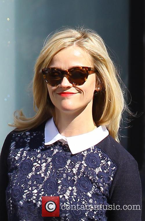 Reese Witherspoon spotted at a hair salon in...