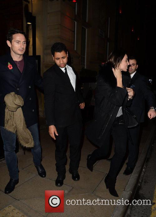 Frank Lampard and Christine Bleakley spotted leaving Rosso...