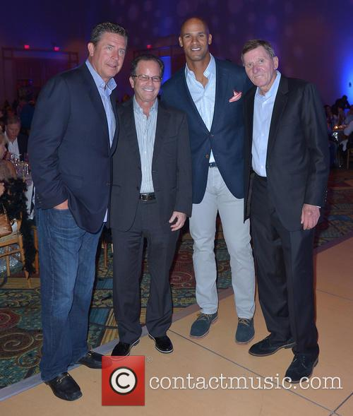 Dan Marino, Mark Levinson, Jason Taylor and John Footy Kross