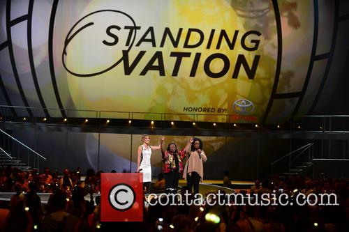Amy Purdy, Estella Pyfrom and Oprah Winfrey