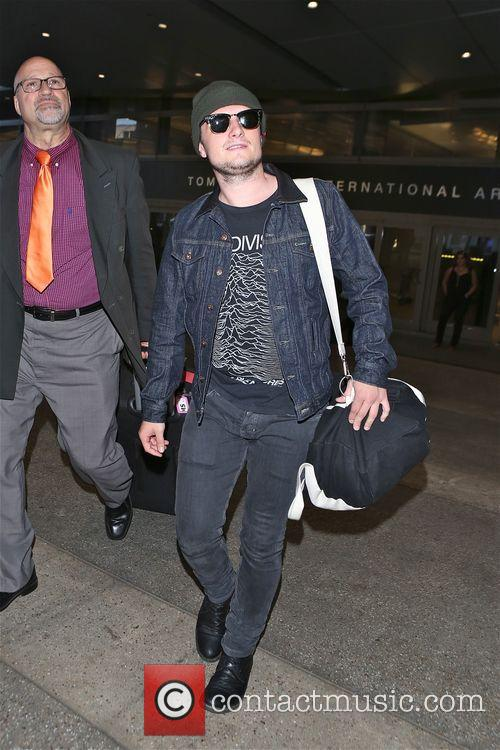 Josh Hutcherson arrives in Los Angeles at LAX