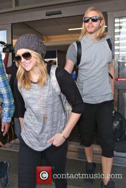 Chloe Grace Moretz arrives at Los Angeles International...