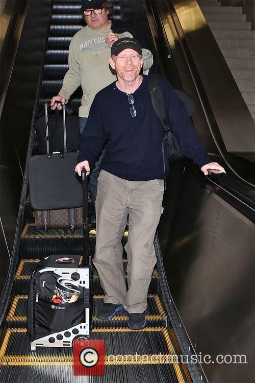 Ron Howard arrives at Los Angeles International (LAX)...