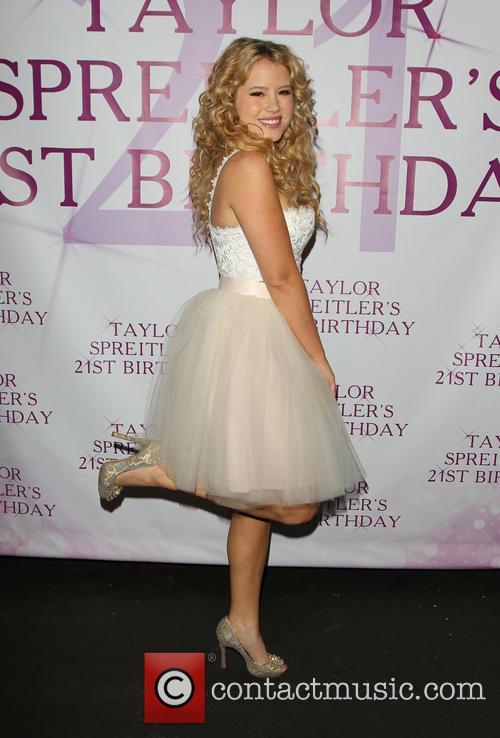 Taylor Spreitler celebrates her 21st birthday