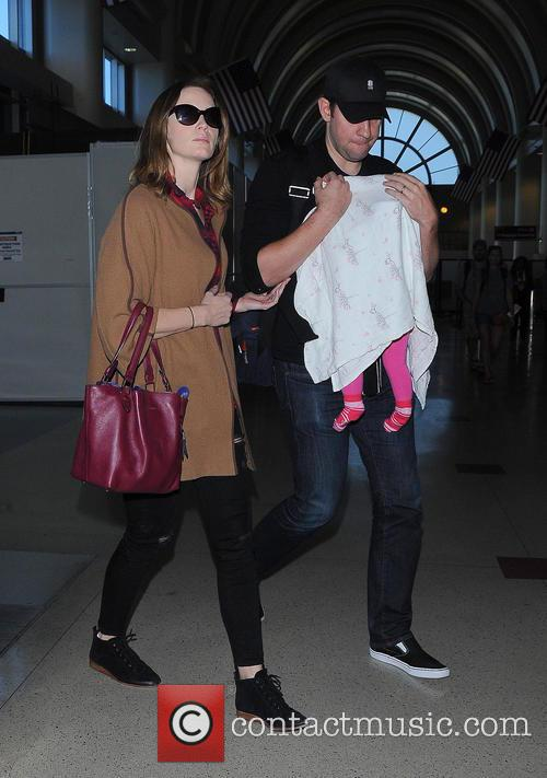 Emily Blunt and family arrive at Los Angeles...
