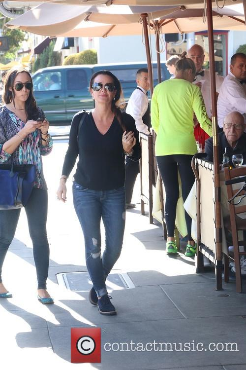Kyle Richards with ex-husband at Il Pastaio restaurant