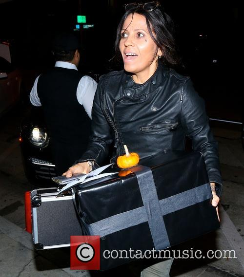 Linda Perry arriving at Craig's Restaurant