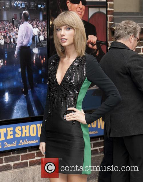 Taylor Swift appears on the 'Late Show with...