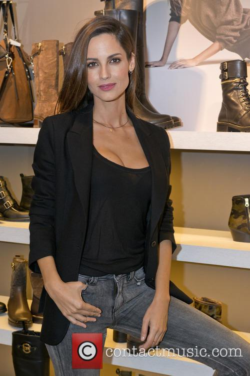 Model Ariadne Artiles presents the new autumn-winter Alpe...